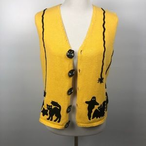 Vtg Marisa Christina Ugly Halloween Sweater Vest